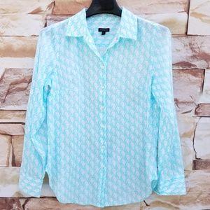 Talbots Light Blue w/ Seahorses Button Down Shirt